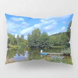 At the fairytale pond | waterscape photography Pillow Sham