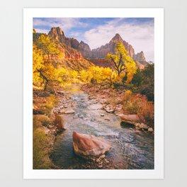 River Runs Through Zion Fine Art Print Art Print
