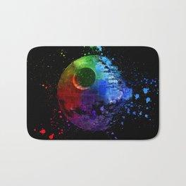 StarWars Death Star Abstract Colorful Digital Painting Bath Mat