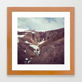 backyard waterfall Framed Art Print