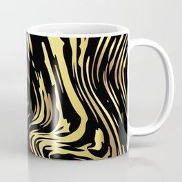 Black and gold marble pattern Coffee Mug