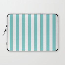 Vertical Aqua Stripes Laptop Sleeve