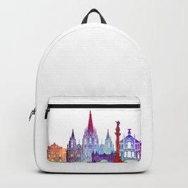 Barcelona landmarks watercolor poster Backpack