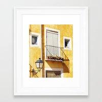 spanish Framed Art Prints featuring Spanish balcony by AlejandraClick