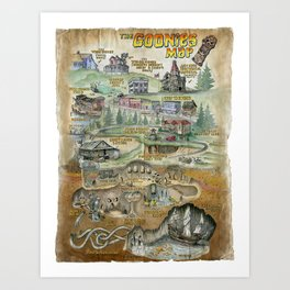 The Goonies Map Art Print