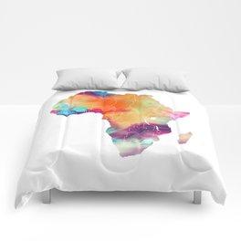 Africa Map 3 Comforters