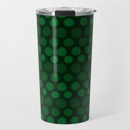 Emerald Green Subtle Gradient Dots Travel Mug