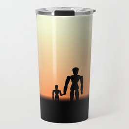 New Day Sunrise or Sunset for Father and Child Wooden Dolls Travel Mug