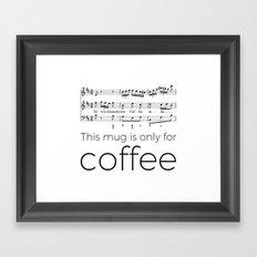 BWV 211 Framed Art Print