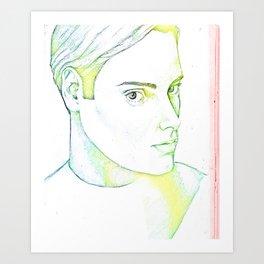 Drawn Boy Art Print