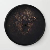 door Wall Clocks featuring door by Erica Petit Illustrations