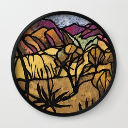 """A Mile Out of Alice Spings"" Margaret Preston Wall Clock"