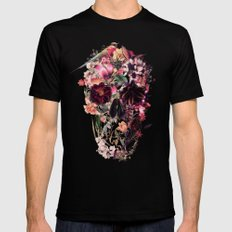 New Skull 2 Black Mens Fitted Tee SMALL