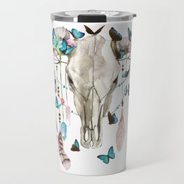 Butterfly Cow Skull Spirit Gazer Travel Mug