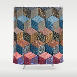 Tumbling Blocks #3 Shower Curtain