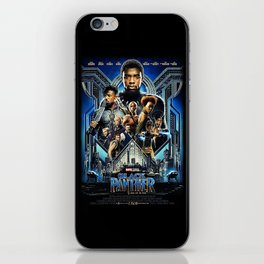 Black Panther movie Poster iPhone Skin