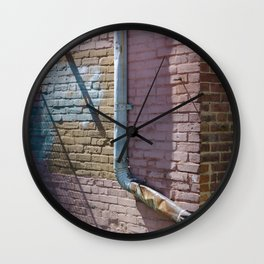 Pastel Street Detail Wall Clock