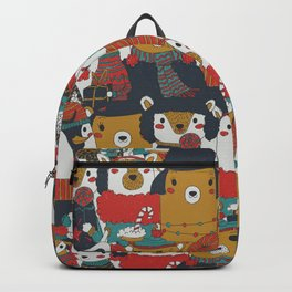 Funky Retro Christmas Animals Backpack