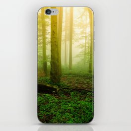 Misty Green Forest Photography iPhone Skin