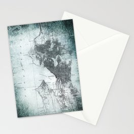 Vintage Seattle City Map Stationery Cards