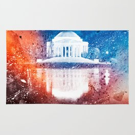 Jefferson Memorial - Vibrant Acrylic Fantasy Rug