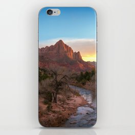 The Watchman Sunset Zion National Park Mountain Landscape iPhone Skin