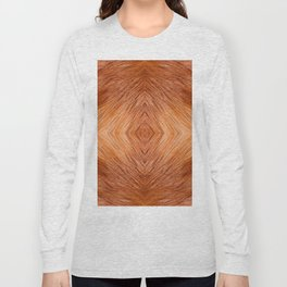 Red fox hairy fur texture cloth Long Sleeve T-shirt