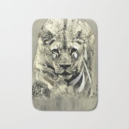 Lioness spy surveillance mission logo blanc urban fashion culture Jacob's 1968 Paris Agency Bath Mat