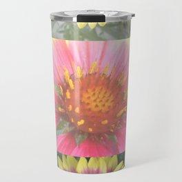 Red Coreopsis Flower Travel Mug