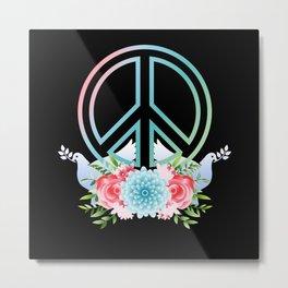 Peace Symbol colorful anti War Metal Print