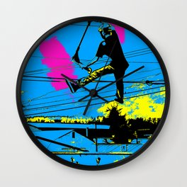 Tailgating - Stunt Scooter Tricks Wall Clock