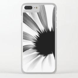 Blume SW Flower BW цветок Clear iPhone Case