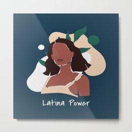 Latina Power Metal Print