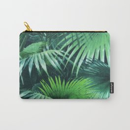 Tropical Botanic Jungle Garden Palm Leaf Green Carry-All Pouch