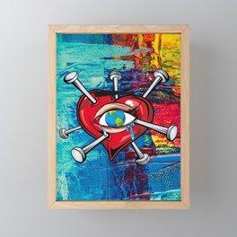 the world is hurting Framed Mini Art Print