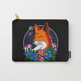 Psychedelic Fox Magic Mushrooms Carry-All Pouch
