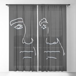 Bill- Black and White Sheer Curtain