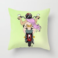 harley Throw Pillows featuring Harley by Natalie Easton