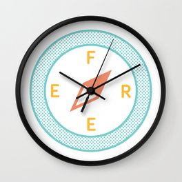 Free to roam Wall Clock