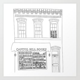 Capitol Hill Books Art Print