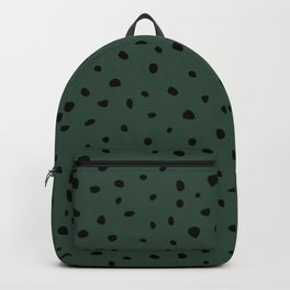 Cheetah Spots animal print minimal wild cat speckles and dots Forest Green Backpack