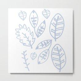 hojas 2.0 Metal Print