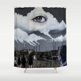 Ether Emission Shower Curtain