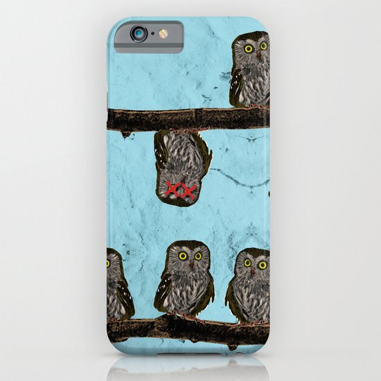 Perched Owls Print iPhone & iPod Case