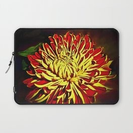 Autumn Winter Bloom Red and Gold Laptop Sleeve