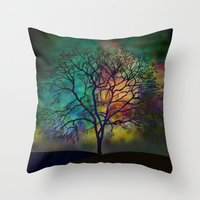 karu kara Throw Pillows featuring Celestial Phenomenon by Klara Acel