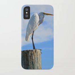 Perching White Egret iPhone Case