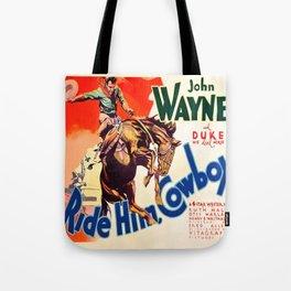 John Wayne Ride Em Cowboy Vintage Movie Poster Print Tote Bag