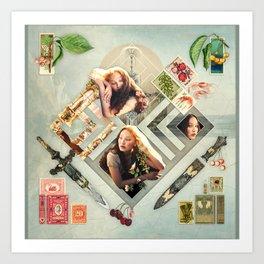 Soft :: Fine Art Collage Art Print