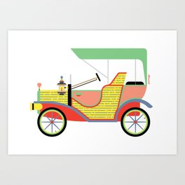 The Dream Ride in My favourite Colours Art Print